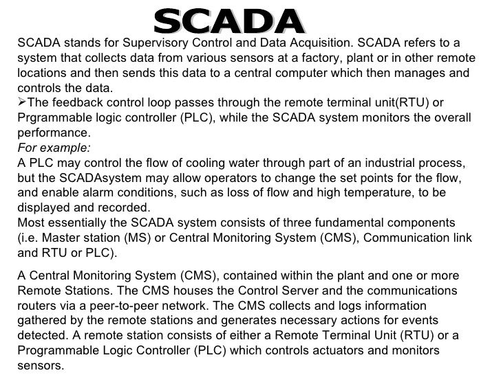 Scada system scada ulliscada stands for supervisory control and data acquisition ccuart Choice Image