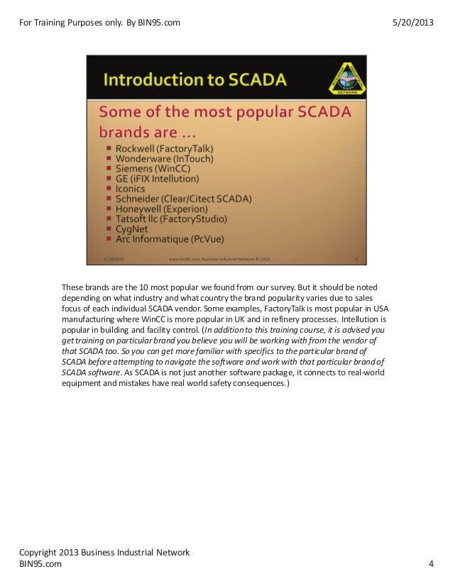 Scada Training Powerpoint samples Slide 2