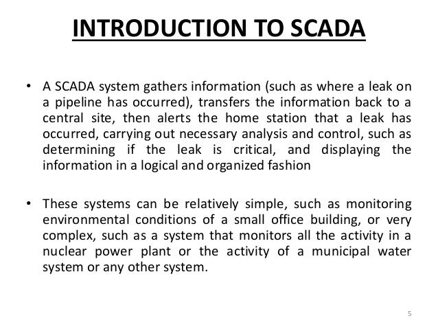 A presentation on scada system.