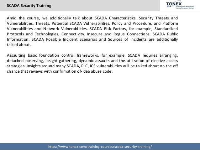SCADA Security Training