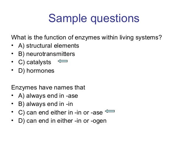 Biochemistry Questions?