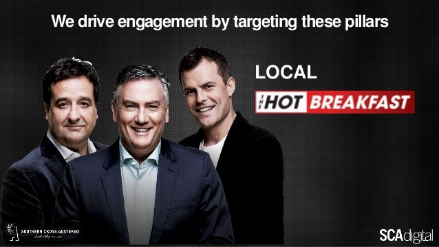 We drive engagement by targeting these pillars LOCAL