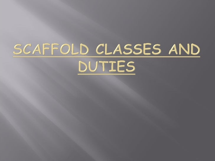 Outcomes;   Calculate scaffold quantities   Identify scaffold duties   Calculate Live and dead loads   Calculate lengt...