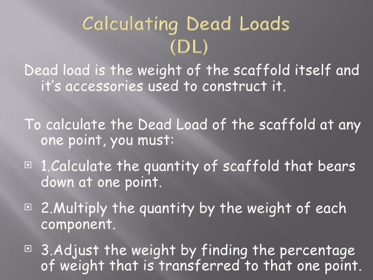 Scaffold Classes And Duties Cals