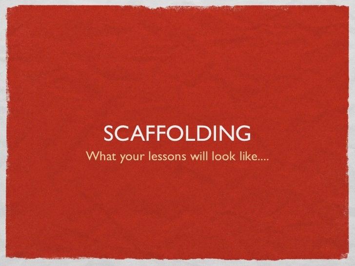 Scaffolding activities Slide 3