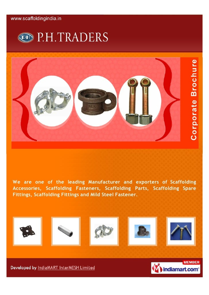 We are one of the leading Manufacturer and exporters of ScaffoldingAccessories, Scaffolding Fasteners, Scaffolding Parts, ...