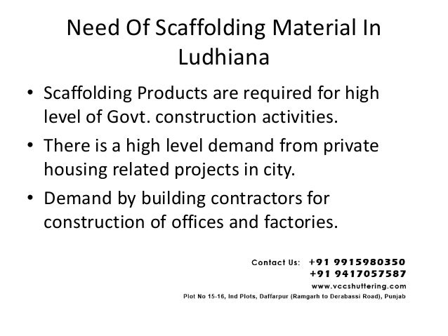 Scaffolding manufacturers in ludhiana Slide 2