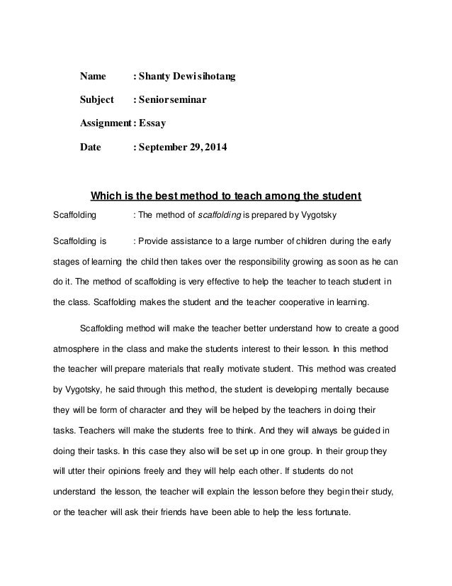 scaffolding essay