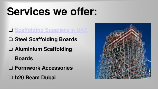 Scaffolding Suppliers in UAE - Tradex LLC