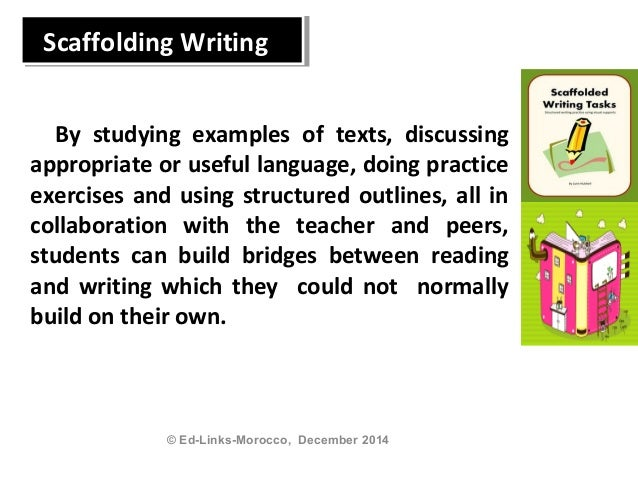 scaffolding writing process Teaching sequence for developing independence stage 3  teaching sequence for developing independence  presumed that the process of writing the article.