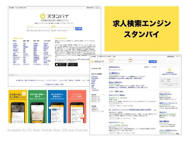 求人検索エンジン スタンバイ Available for PC Web, Mobile Web, iOS and Android
