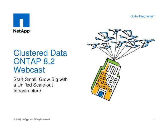 Start Small, Grow Big with a Unified Scale-out Infrastructure Clustered Data ONTAP 8.2 Webcast 1