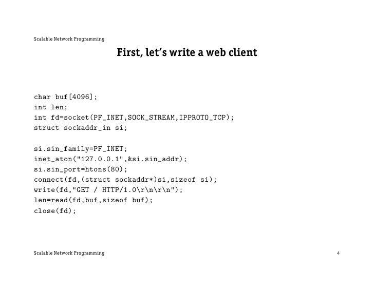 UNIX Network Programming: Sockets Introduction
