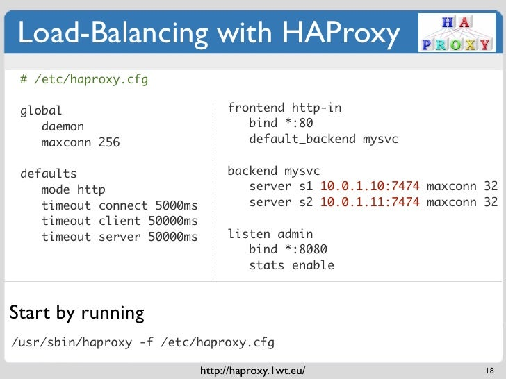 Load-Balancing with HAProxy # /etc/haproxy cfg