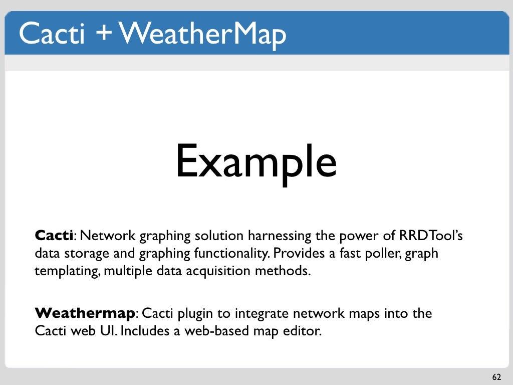 Cacti Weathermap Example Cacti