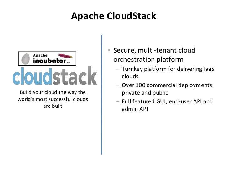 Apache CloudStack                                 • Secure, multi-tenant cloud                                   orchestra...