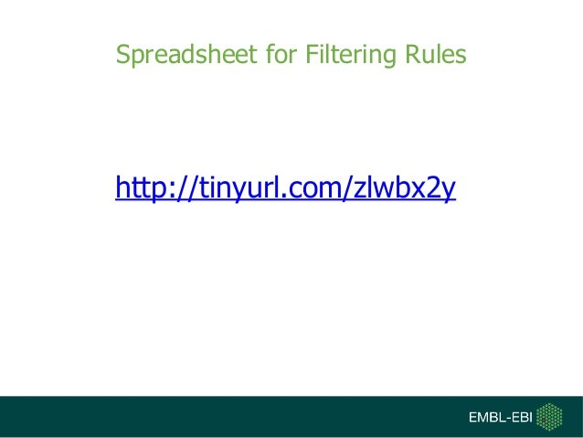 Spreadsheet for Filtering Rules http://tinyurl.com/zlwbx2y