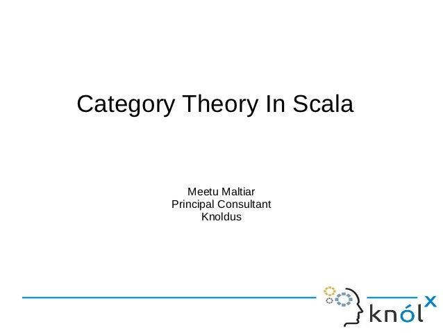 Category Theory In Scala           Meetu Maltiar        Principal Consultant              Knoldus