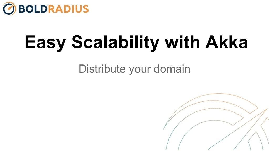 Easy Scalability with Akka - Scala Days 2015
