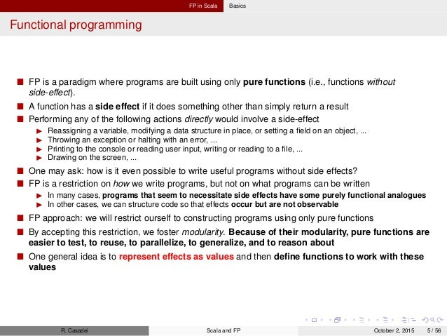 Functional Programming in Scala: Notes