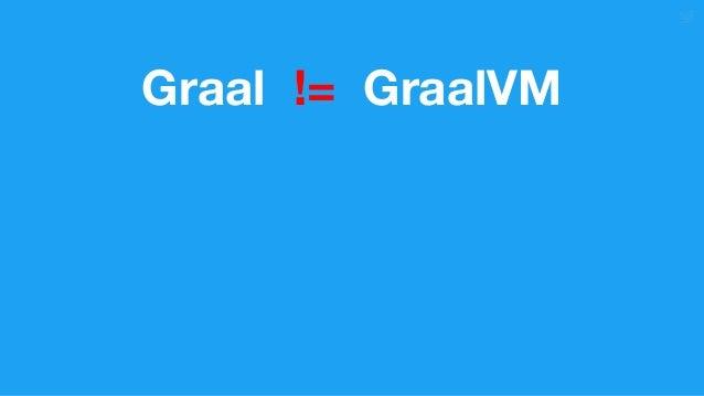 Graal != GraalVM