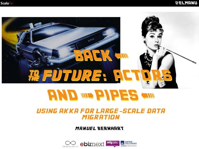 @ELMANU  BACK <  & future: ACTORS  AND > PIPES <  using akka for large-scale data  migration  manuel BERNHART