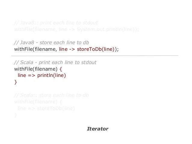 No more loop with Scala ● ●  Project Lambda J Google guava-libraries/