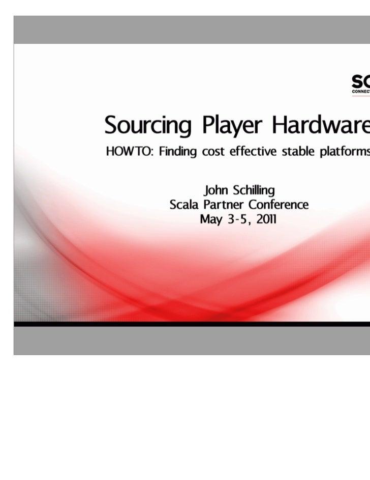 Scala Player Hardware Considerations