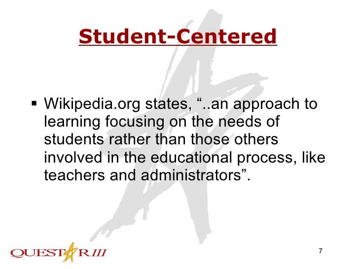 student centered learning environment pdf