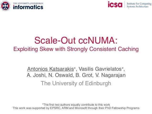 Scale-Out ccNUMA: Exploiting Skew with Strongly Consistent Caching Antonios Katsarakis*, Vasilis Gavrielatos*,  A. Joshi,...