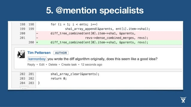 5. @mention specialists
