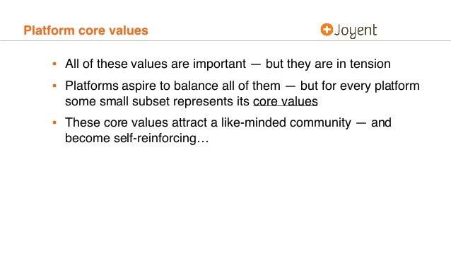 Platform core values • All of these values are important — but they are in tension • Platforms aspire to balance all of th...