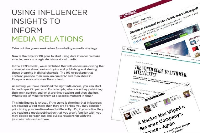 USING INFLUENCER INSIGHTS TO INFORM MEDIA RELATIONS Now is the time for PR pros to start using data in order to make smart...