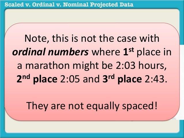 Scaled v  ordinal v  nominal data(3)
