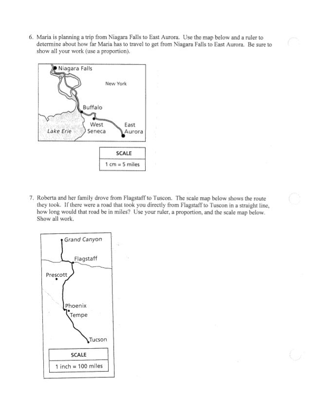 Scale maps proportions worksheet – Proportion Word Problems Worksheets