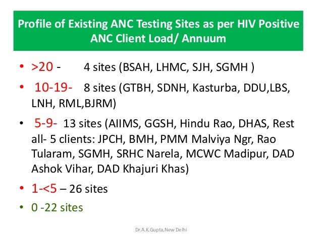 Setting up F-ICTCs at 50 ANC          sites through ANMsDSACS trained 572 ANMs in Feb- March 12 on whole blood single pric...