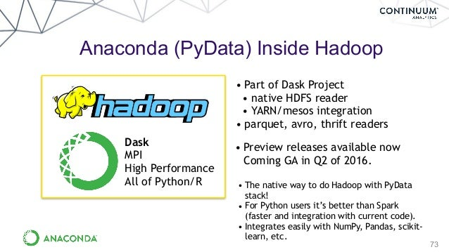 Scale up and Scale Out Anaconda and PyData