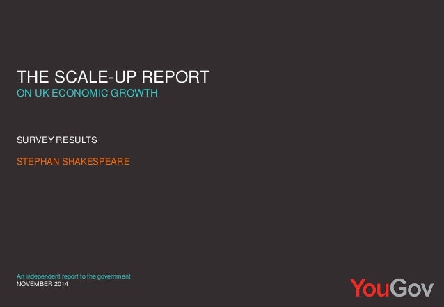 THE SCALE-UP REPORT  ON UK ECONOMIC GROWTH  SURVEY RESULTS  STEPHAN SHAKESPEARE  An independent report to the government  ...