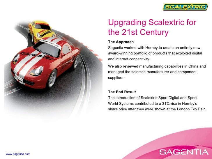 The Approach Sagentia worked with Hornby to create an entirely new, award-winning portfolio of products that exploited dig...