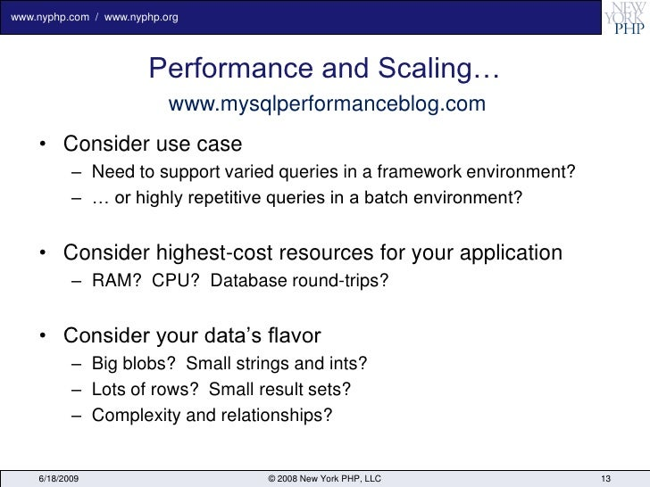 www.nyphp.com / www.nyphp.org                            Performance and Scaling…                            www.mysqlperf...