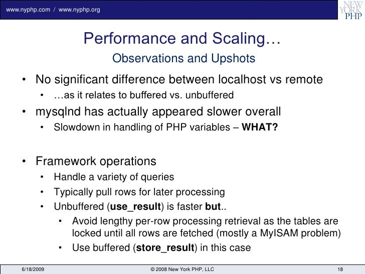 www.nyphp.com / www.nyphp.org                            Performance and Scaling…                                 Observat...
