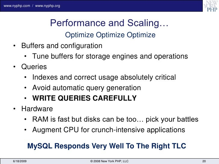 www.nyphp.com / www.nyphp.org                            Performance and Scaling…                    Optimize Optimize Opt...