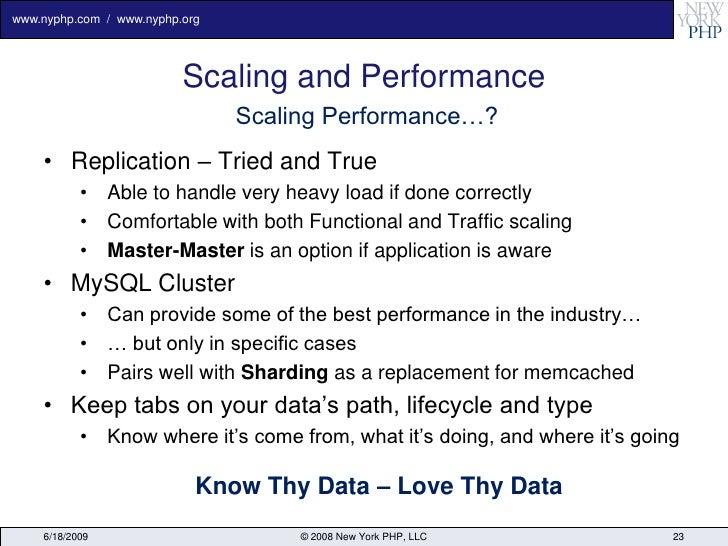 www.nyphp.com / www.nyphp.org                               Scaling and Performance                                 Scalin...