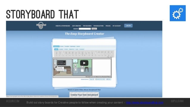 Storyboard that  iacquire.com  Build out story boards for Creative people to follow when creating your content - http://ww...