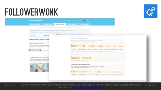 followerwonk  iacquire.com  Use the word clouds from your followers or a competitor's to develop co-relevant content ideas...