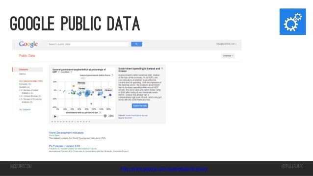 Google Public Data  iacquire.com  http://www.google.com/publicdata/directory  @iPullRank