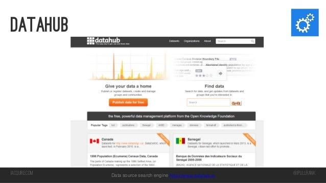 datahub  iacquire.com  Data source search engine http://www.datahub.io  @iPullRank