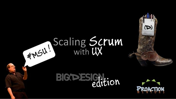 Scaling Scrum   with UX