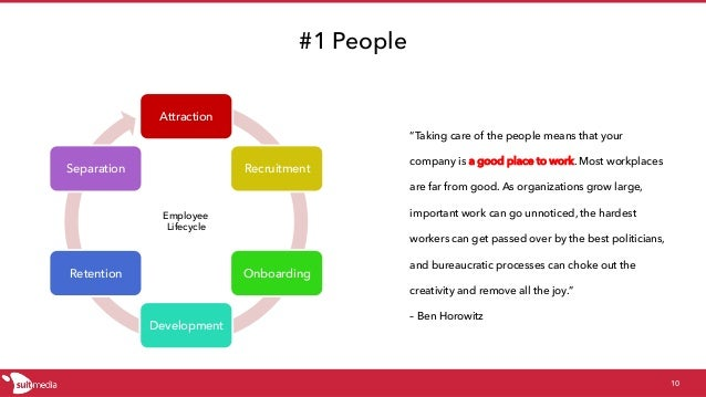 """#1 People Attraction Recruitment Onboarding Development Retention Separation 10 """"Taking care of the people means that your..."""