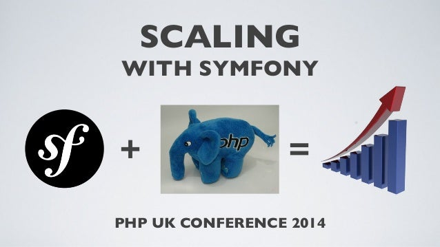 SCALING WITH SYMFONY  +  =  PHP UK CONFERENCE 2014